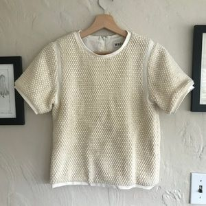 Whit (handmade in New York) cream top